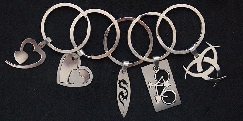 Stainless steel sleutelhanger
