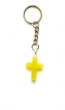 Sleutelhanger met geel kruis