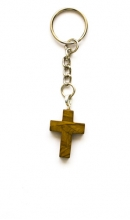 Sleutelhanger met bruin kruis
