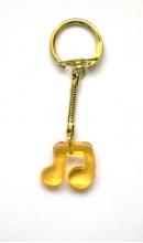 Sleutelhanger muzieknoot oranje