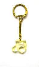Sleutelhanger muzieknoot geel
