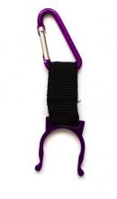 Sleutelhanger karabijn voor flesje paars