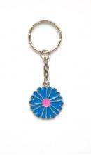 Sleutelhanger bloem blauw