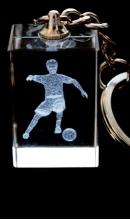 Sleutelhanger voetballer kristal