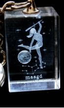 Sleutelhanger kristal Maagd