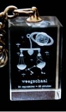 Sleutelhanger kristal Weegschaal