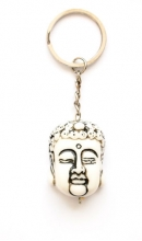 Sleutelhanger Meditatie Boeddha wit