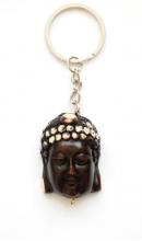 Sleutelhanger Meditatie Boeddha bruin