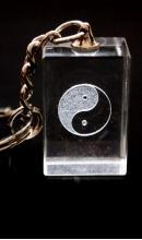 Sleutelhanger kristal Yin Yang