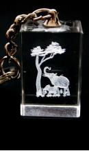 Sleutelhanger kristal olifanten