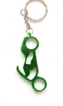 Sleutelhanger motor flessenopener groen