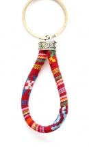 Sleutelhanger Aztec rood/bruin