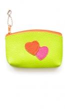 sleutelhanger groen tasje met hartjes