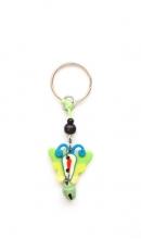 Sleutelhanger vlinder groen met bel