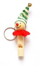 Sleutelhanger vrolijke clown met fluit D