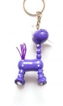 Sleutelhanger giraf paars op pootjes