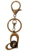 Sleutelhanger hart bronskleurig Kreeft