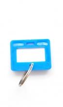 Sleutellabel blauw klein