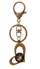 Sleutelhanger hart bronskleurig Leeuw