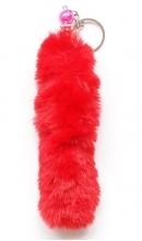 Sleutelhanger pluche staart rood