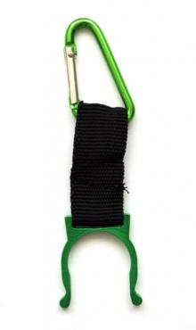 Sleutelhanger karabijn voor flesje groen