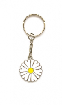 Sleutelhanger bloem wit