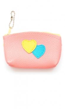sleutelhanger licht roze tasje met hartjes