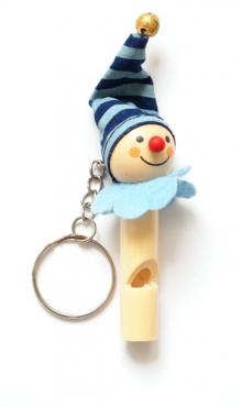 Sleutelhanger vrolijke clown met fluit F