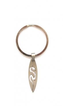 Sleutelring met stainless steel hanger draak