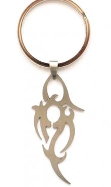 Sleutelring met stainless steel hanger A