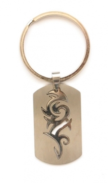 Sleutelring met stainless steel hanger B