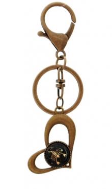 Sleutelhanger hart bronskleurig Schorpioen
