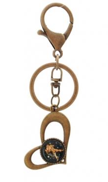 Sleutelhanger hart bronskleurig Waterman