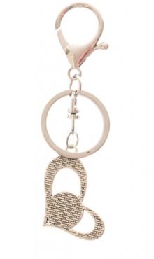 Sleutelhanger hart zilverkleur Steenbok