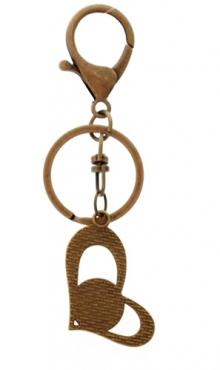 Sleutelhanger hart bronskleurig Weegschaal