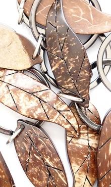 Sleutelhanger blad kokosnoot