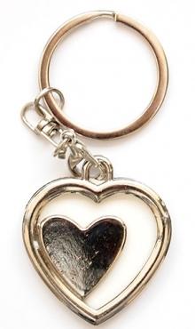 Sleutelhanger fotoframe hart