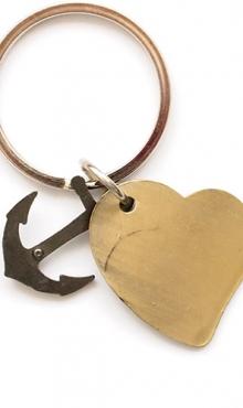 Sleutelhanger hart met anker